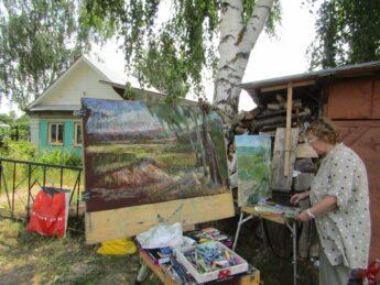 В рамках проекта Фонда в Крумыш приехала группа художников из Чебоксар